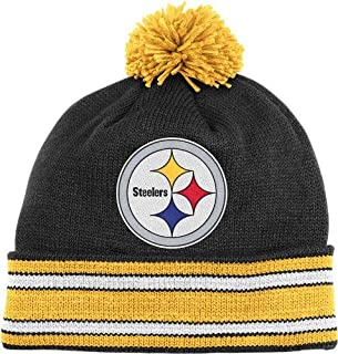 Mitchell & Ness Pitt Steelers Stripe Cuff Pom Bean