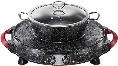 MissZZ Hot Pot grillé électrique sans fumée séparable, capacité de contrôle séparée à Double température, Nettoyage sépar...