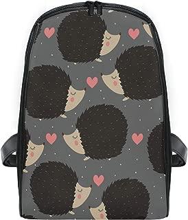 ZZXXB Hedgehog Love Heart Backpack Kids Toddler Child Preschool Kindergarten Waterproof Book Bags Travel Daypack for Boys and Girls