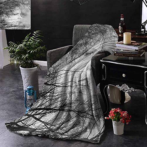 GGACEN Reisdeken Vintage Bloemenpatroon Victorian Classic Royal Geïnspireerd Nieuwe Moderne Kunst Zachte en comfortabele slaapbank