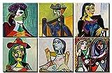 time4art Pablo Picasso - Cuadro de 6 x 30 x 30 cm sobre bastidor