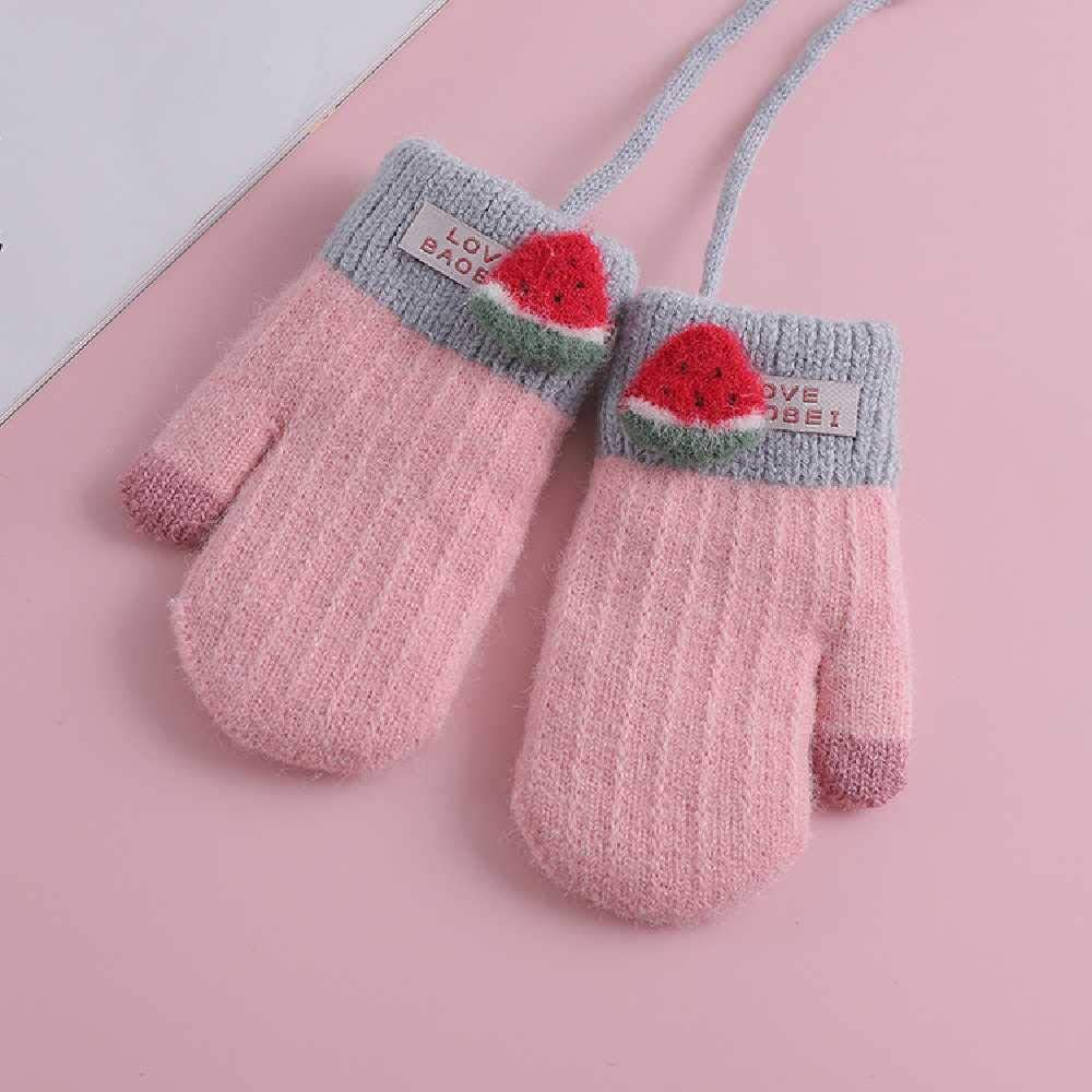 N\C Cute Low price Fruit Hanging Neck Dedication Children's Gloves Winter for