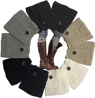 Women Short Boots Socks Winter Crochet Knit Leg Warmers Girl Boot Cuffs Socks Short Leg Warmer