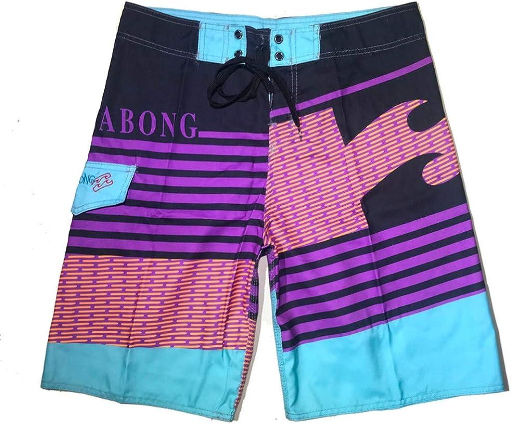 Summer Short Pants Forthery Mens Fashion Stripe Print Pants Quick Dry Beach Broad Shorts Swim Trunks for Boys(Multicolor,XXXL=40)