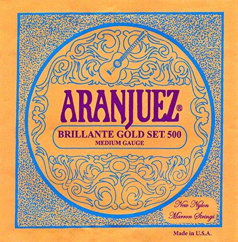 Aranjuez Brillante Gold A500G Konzertgitarren Saiten für Klassik Gitarre