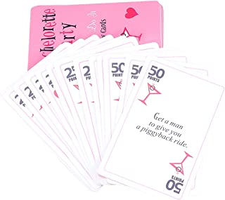 LUOEM 52 Card Bachelorette Party Games Naughty Hen Party Dare Cards Girls Night Out Ideas Activities for Bridal Shower Wedding Bachelorette Party Supplies