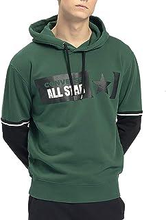 CONVERSE clothing Sweatshirt Fleece Sweatshirt Hood RIVALR Hoodie Man Green 10021320