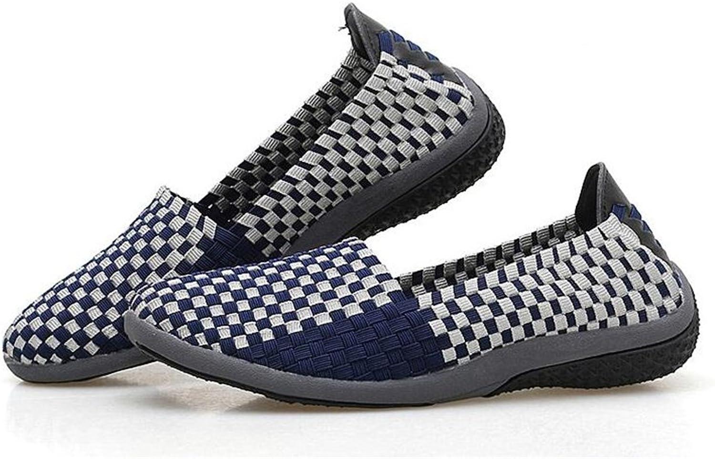 ALLAK Women's Woven Loafers Fashion Sneakers Breathable Walking shoes