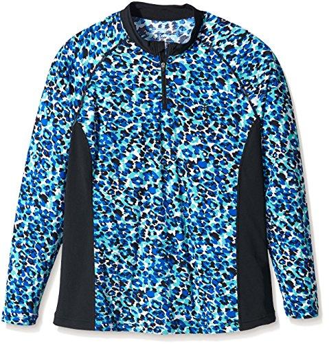 Coolibar QTR Zip Swim Shirt Short Sleeve UPF 50 Plus - Maillot...