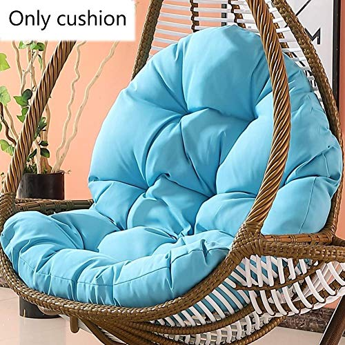 Garden Wicker Rattan Hanging Egg Chair Cushion Mat,Non-slip Soft Swing Chair Pads for Indoor Outdoor Balcony Patio Swing Chair-120x86x15cm