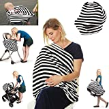 Premium 4 in 1 - Stretchy Car Seat Cover, Baby Carseat Canopy,Privacy Nursing Cover / Infinity Nursing Scarf,...