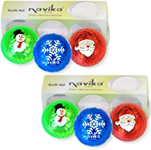 Navika Christmas Golf Balls Assorted Metallic Bling Balls Combo (2 Pack)