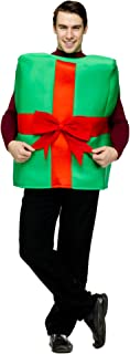 Green and Red Gift Box with Bow Adult Christmas Costume - One Size
