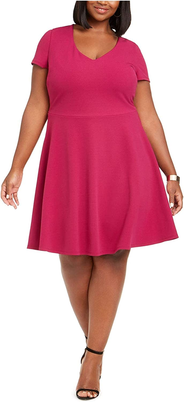B. Darlin Womens Juniors Plus Tie Back Fit & Flare Dress