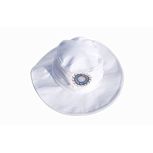 3af9d232dd0 HIGH QUALITY CRICKET SUNHAT WITH INDIA LOGO INDIA FLAG ON SIDE MENS  SMALL MEDIUM