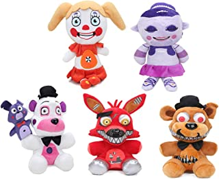 YODE 18cm Newest Five Nights at Freddy's Stuffed Animal Golden Red White Bear Soft Plush Figures Doll Toys - 5Pcs