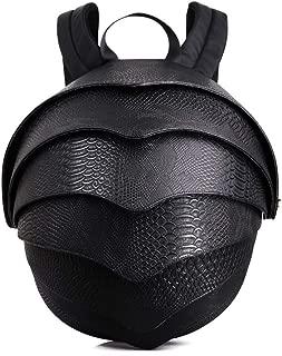 RJW School Bag/Shoulder Bag/Student Computer Bag/Beetle Backpack/Snake Leather Man Bag Fashion (Color : Black)