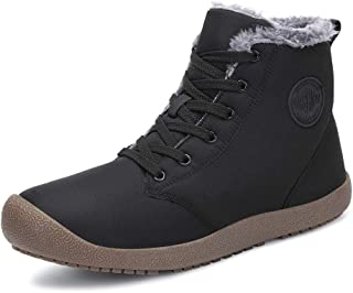 Dannto Snow Boots High Top Waterproof Outdoor Fur Lined Winter Warm Shoes Ankle Booties for Men Women
