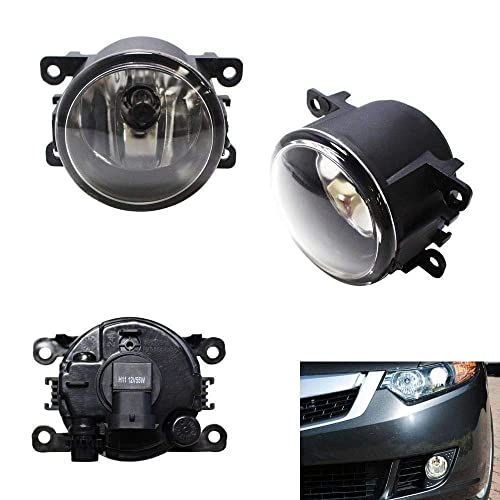 iJDMTOY A Pair Driver Passenger Sides Fog Light Lamps with H11 Halogen Bulbs For Acura Honda