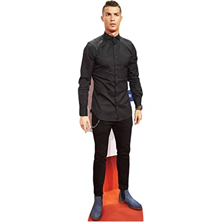 Star Cutouts Vida tamaño de cartón Cut out Cristiano Ronaldo, Multicolor