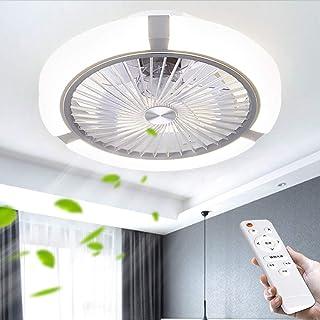 Ventilador De Techo LED De Luz Regulable Sin Escalonamiento Con La Iluminación Y Ventiladores Modern Control Remoto Silent Lámparas Colgantes De La Lámpara Para Office Habitación Sala Restaurante Baño