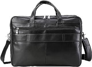 "Men's Accessories 17"" Laptop Shoulder Messenger Messenger Bag Black Woman Man,Office Portable Retro Style Leather Briefcase Outdoor Recreation"