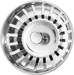 Anpro Edelstahl Küchenspüle Sieb Abflusssieb Küchenspüle Stopper Siebkörbchen mit Zapfen 20 Schlitze für Stopfenbedienung 78mm, EINWEG