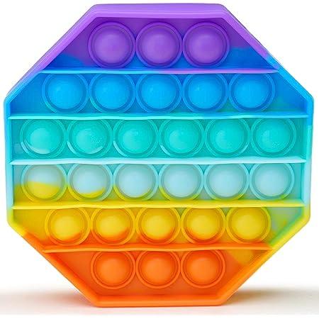 APPSOLS Pop it Fidget Toys, fidjetoys Toy Anti Stress, popit Jeux Pas Cher, Multicolore popite fijets Toys entistesses Objet satisfaisant, poppit figette, Anti Stress