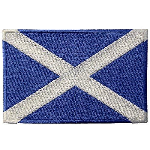 Toppa ricamata con bandiera scozzese, da cucire o attaccare con il ferro da stiro