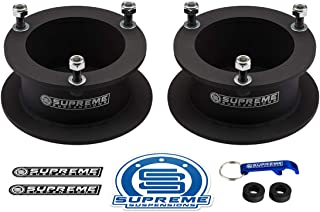 "Supreme Suspensions - 2.5"" Front Lift Kit for 1994-2012 Dodge Ram 2500 3500 4WD and 1994-2001 Dodge Ram 1500 4WD Front Carbon Steel Spring Spacers"