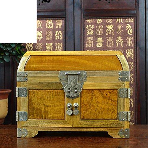 Phoebe schatkist Grootbladige Nanmu sieraden doos de spiegel doos mahonie meubels en ornamenten
