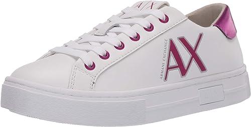 Armani exchange sneaker  scarpe da ginnastica basse donna in pelle XDX027XV302