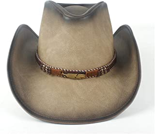 SHENTIANWEI Fashion Western Cowboy Hat for Women Men Leather Sombrero Hombre Jazz Caps