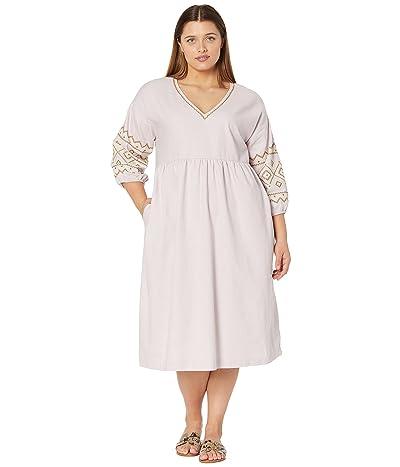 Madewell Embroidered-Sleeve Popover Midi Dress