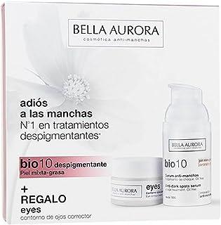 Bella Aurora Set De Bio 10 Serum Anti-Manchas y Eyes Contorno de Ojos Corrector Para Piel Mixta-Grasa