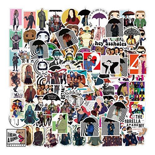 YCYY 100 American Drama Parachute Academy Graffiti Stickers Personality Decorative Suitcase Waterproof Stickers