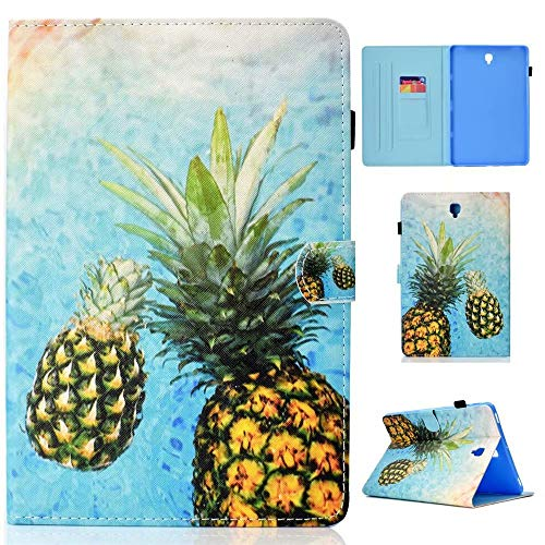 WVYMX Case for Galaxy Tab S4 10.5 T830 Full-Body Protective PU Leather Flip Cover with Auto Sleep Wake Stand Cases for Samsung Galaxy Tab S4 10.5 Inch 2018(SM-T830/T835/T837) Pineapple