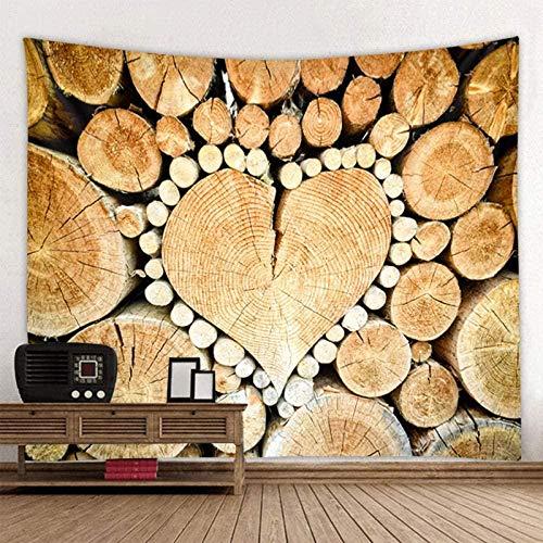 JXZIARON Tapiz Art Paño para Colgar en la Pared Impresión HD Cocina Dormitorio Sala de Estar Decoración,Hermoso Amor Tablero de Madera Imprimir decoración de Arte Bohemio 150x100CM