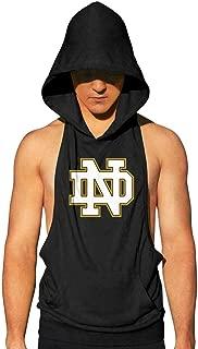 Fasdala Mens Casual Workout Hooded Tank Tops Sleeveless Gym Hoodies with Kanga Pocket Workout Fitness Vest