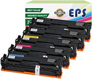 EPS Compatible Toner Cartridges Replacement for Canon 131 for Canon LBP7110Cw MF8280Cw ( 5PK ) 2B/C/M/Y