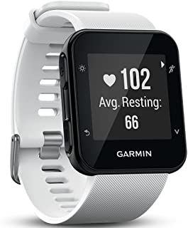 Garmin Forerunner 35 GPS Running Watch with Wrist-Based Heart Rate and Workouts White (Renewed)