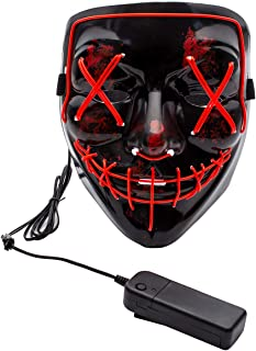 Halloween LED Light up Mask-Frightening EL Wire Cosplay Mask for Festival Parties