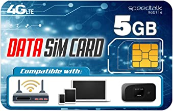 Sponsored Ad - SpeedTalk Mobile 5GB Data Only SIM Card – 30 Days No Contract Service - 4G LTE USA Nationwide Domestic and ...