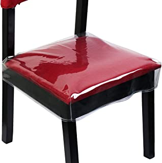 Homemaxs Chair Protector Dinning Chair Covers Waterproof PVC Seat Protector Slipcovers..