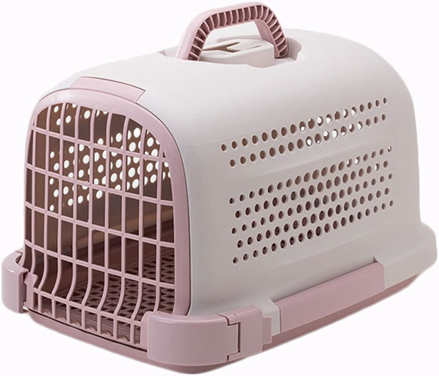 Pet Transport Boxes Cat Cages Outgoing Dog Boxes Airlifts Pet Backpacks (color   Pink)