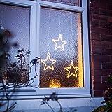 LED Stern Fensterdeko Weihnachtsdeko Timer Batteriebetrieb Lights4fun - 4