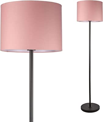 Pauleen 48084 Grand Reverie lampadaire Max 20W E27 230V Tissu/Métal, Rose, Noir