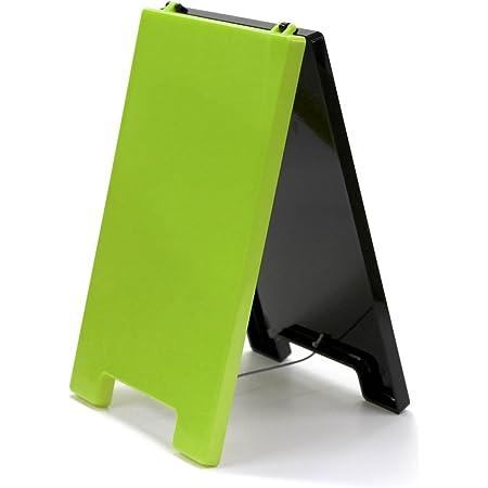 アルタ Aスタンドマーカーボード AR0405068 卓上 グリーン×ブラック サイズ:約W14.8 D2 H23.7