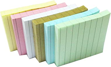 Sticky Notes with Lines Mem 3 in x 3 in Easy Post Notes Self-Stick Pads 5 Pack 80 Sheet Per Pad 400 Sheet Total Individual Pa