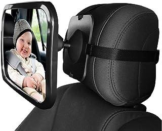 Mumoo Bear Baby Car Backseat Safery Mirror, black